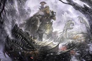 Viking kills Linnorm by TARGETE