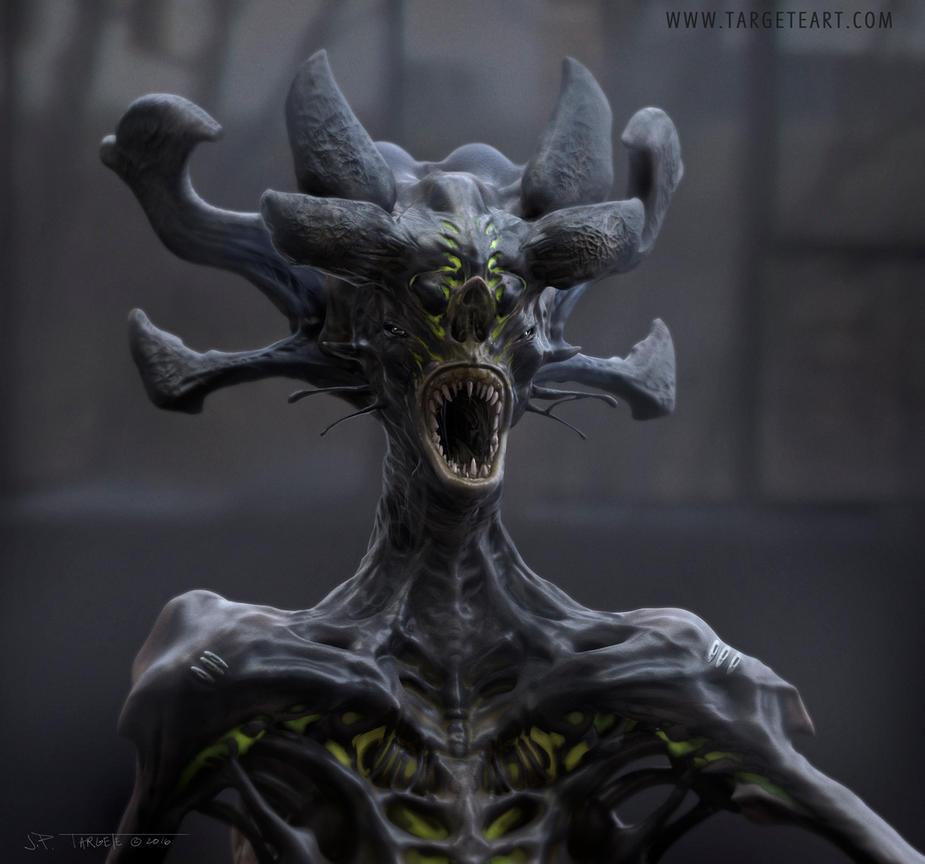 Alien head design by TARGETE