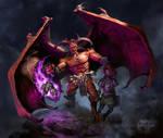 Mangere, the Demon King illustration for VALKYRX