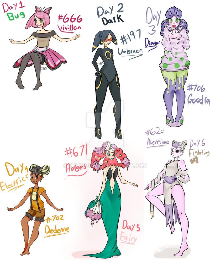 Pokemon December meme days1-6 by Junko-Ishi