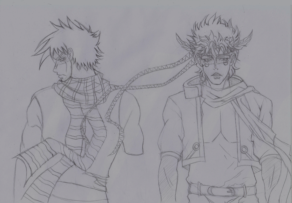 Joseph and Caesar sketch by Choi-chan