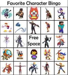 Fav Character Bingo