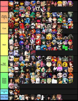Smash DLC Tier List 2.0