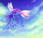 Hppy Flying Octopus in sky