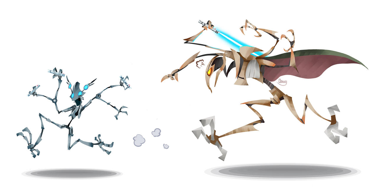 Frenzy and Grievous by zgul-osr1113 on DeviantArt