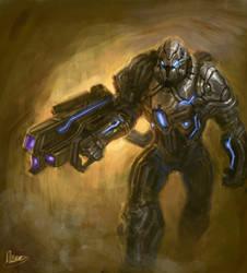 Armored Gunner by zgul-osr1113