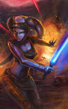 Aayla Secura in the battle