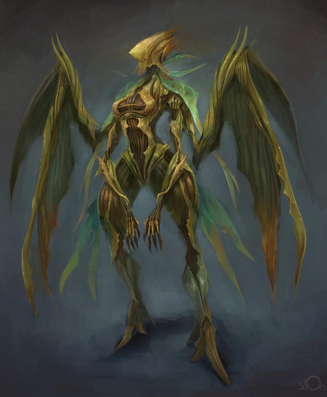 Mantis alien woman by zgul-osr1113