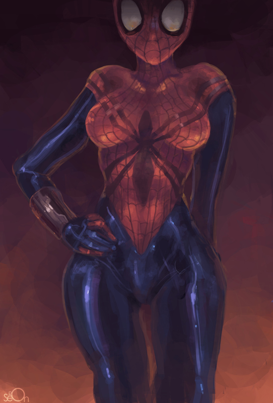 Sexy spider girl wallpaper