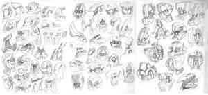 Heads Doodles - robot 2