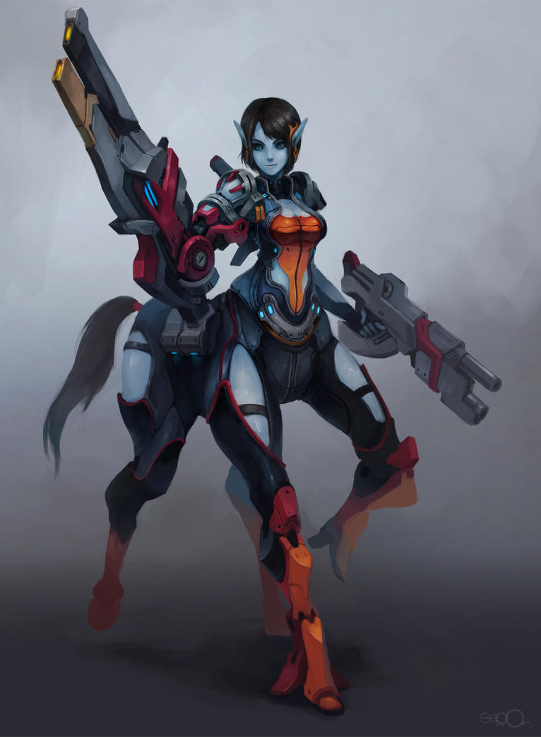 Sci-Fi Centaur girl by zgul-osr1113