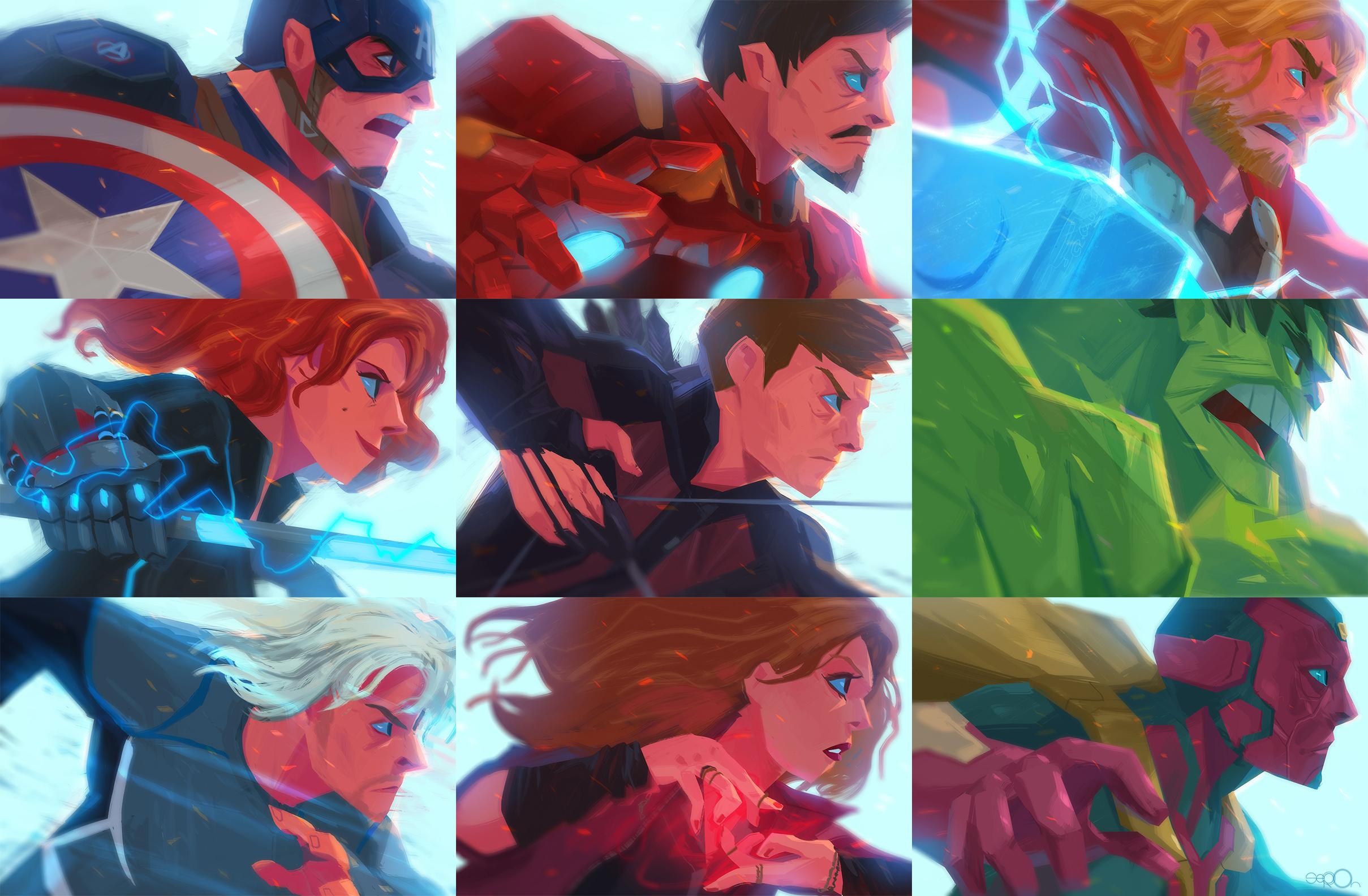 Avengers Age of Ultron members by zgul-osr1113