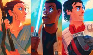 Star Wars new trio by zgul-osr1113