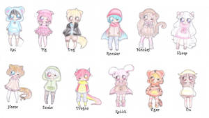 Chinese Zodiac Adoptables CLOSED