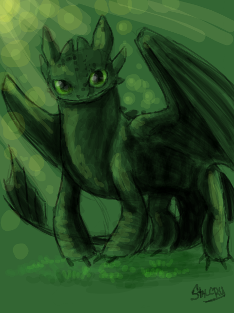 Tegaki-e Toothless by Stalcry