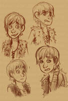 Hiccup Doodles by Stalcry