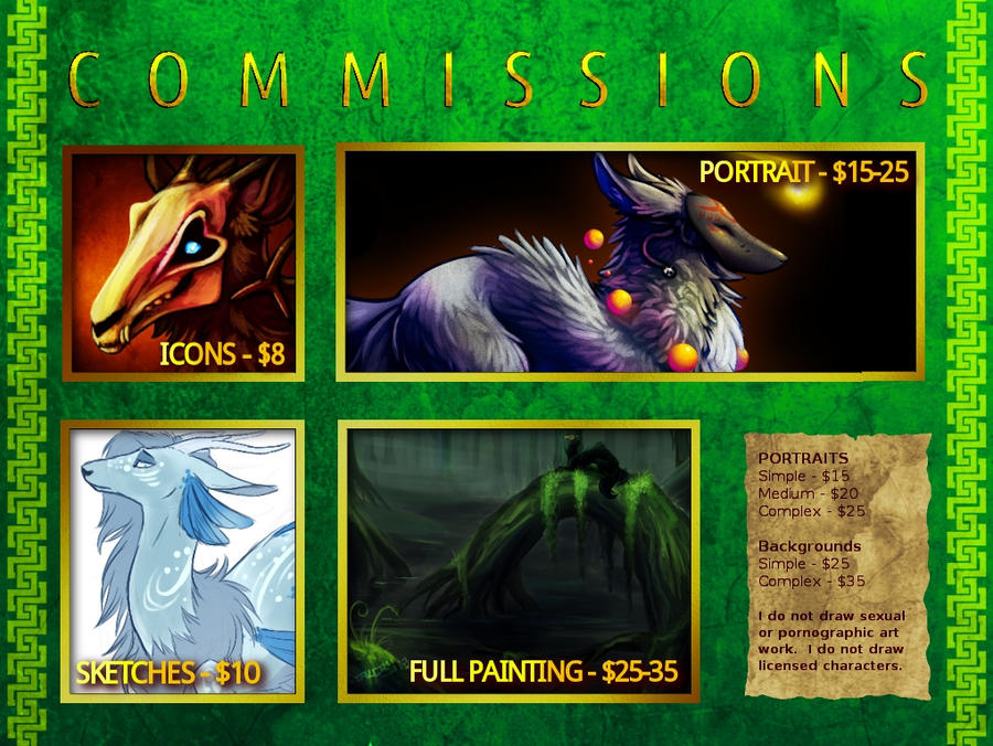 Commission Price Sheet by Stalcry
