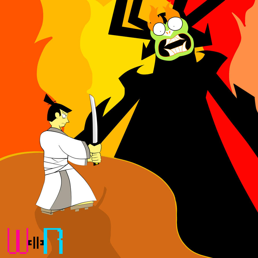 Aku vs Samurai Jack by Screenshot-Saga
