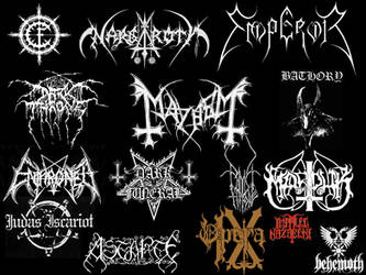 Black Metal Logos by krios3