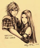 FFX-2 Shuyin and Lenne by hugieugie