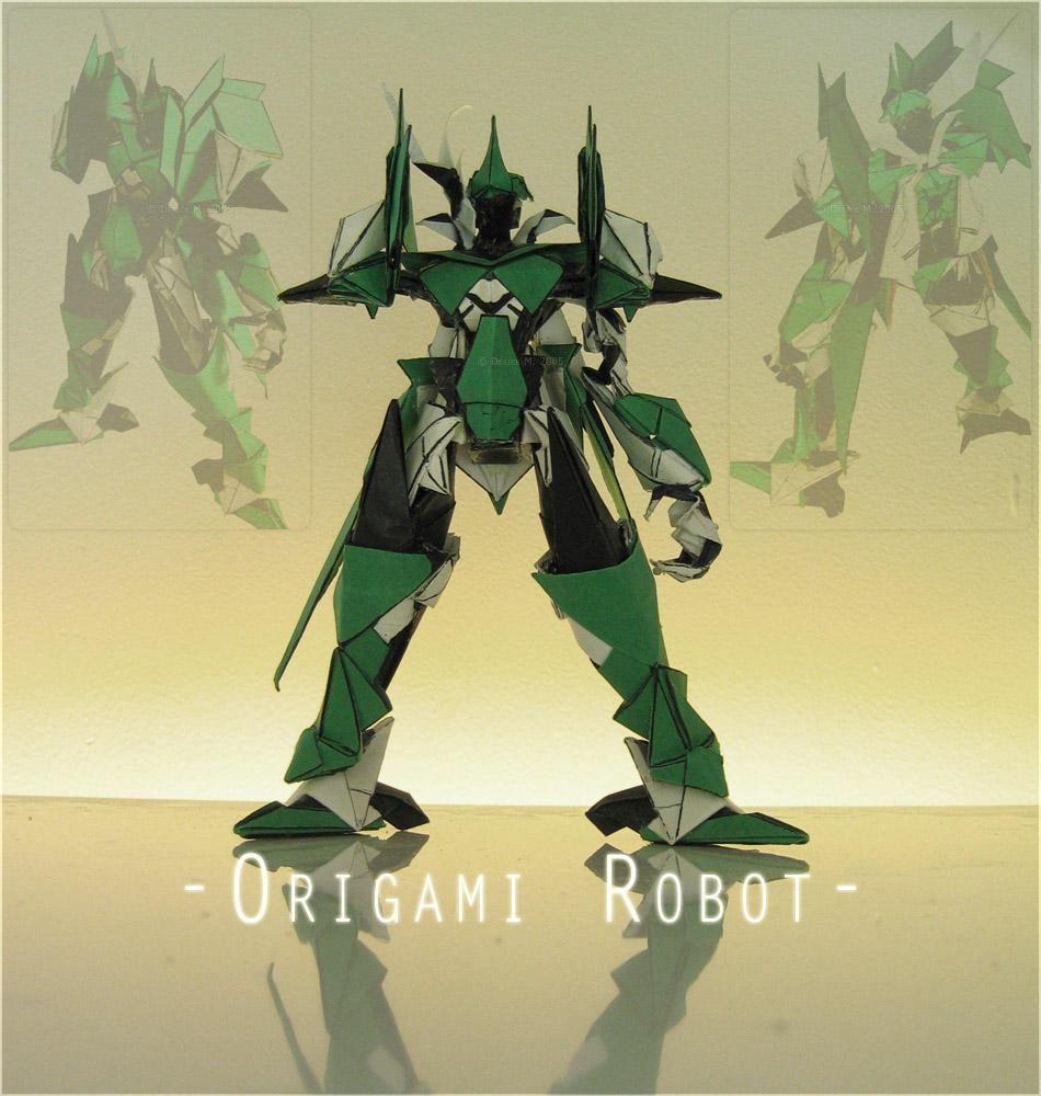origami greet robot 001b by derkkun on deviantart