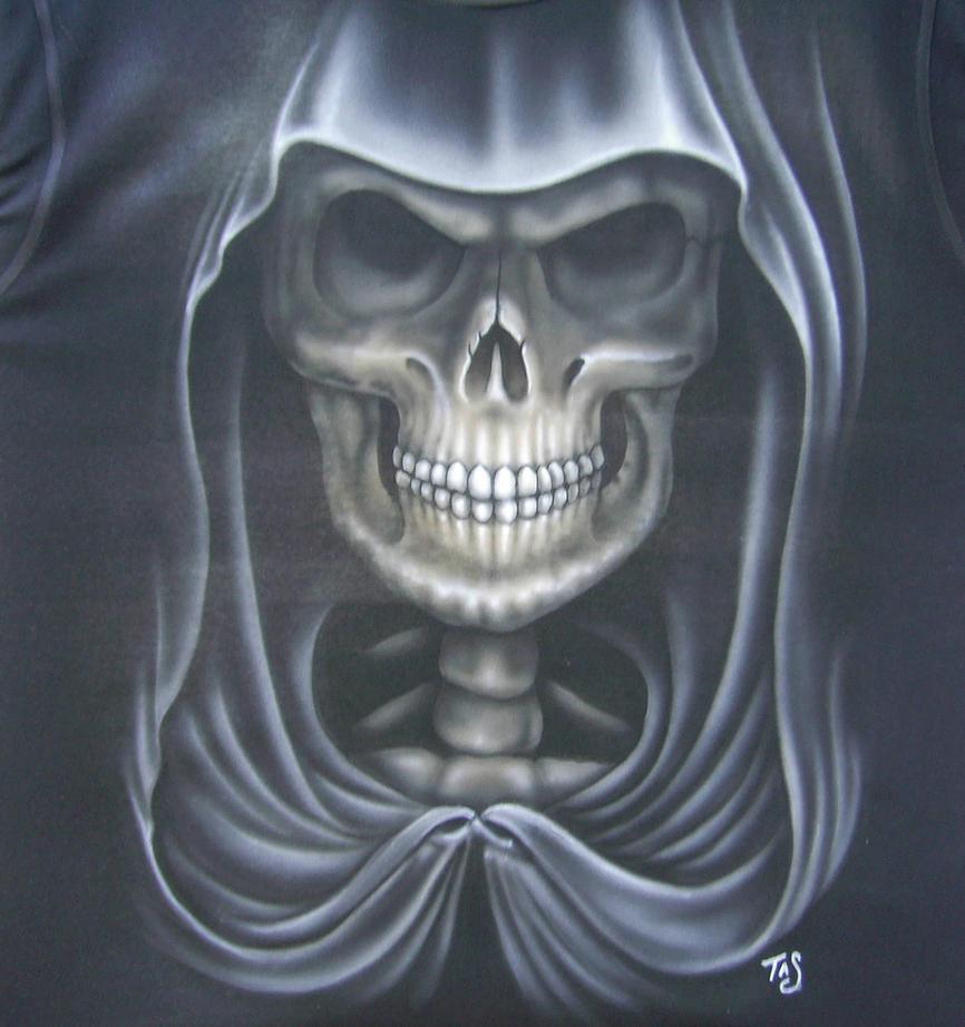 Grim Reaper With Skulls Design Template