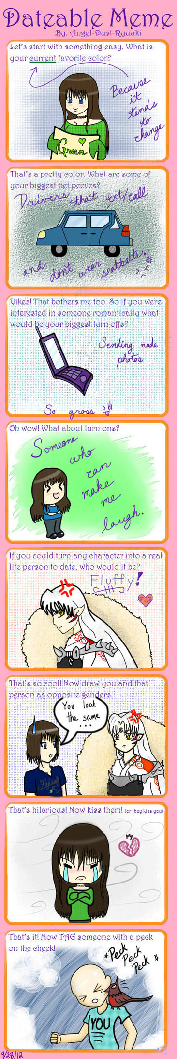 My Datable Meme -filled out- by Angel-Dust-Ryuuki