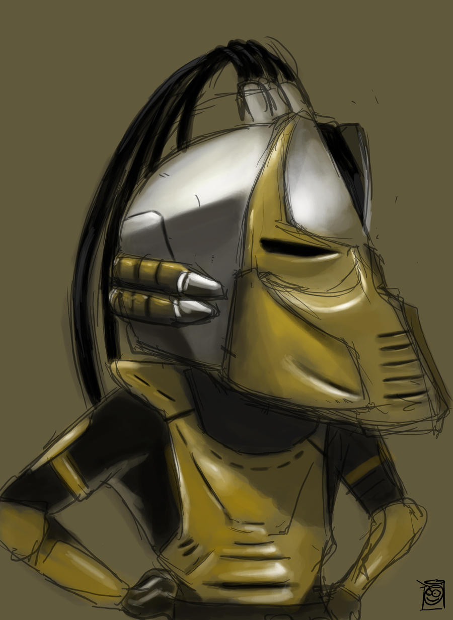 Cyrax Mortal Kombat Fan Art by pati88