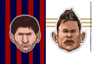 Messi vs CR7 caricature