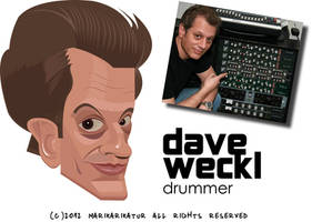 Dave Weckl Caricature