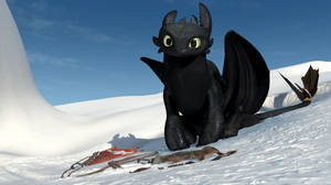 Gift Of The Night Fury Screencap - Toothless