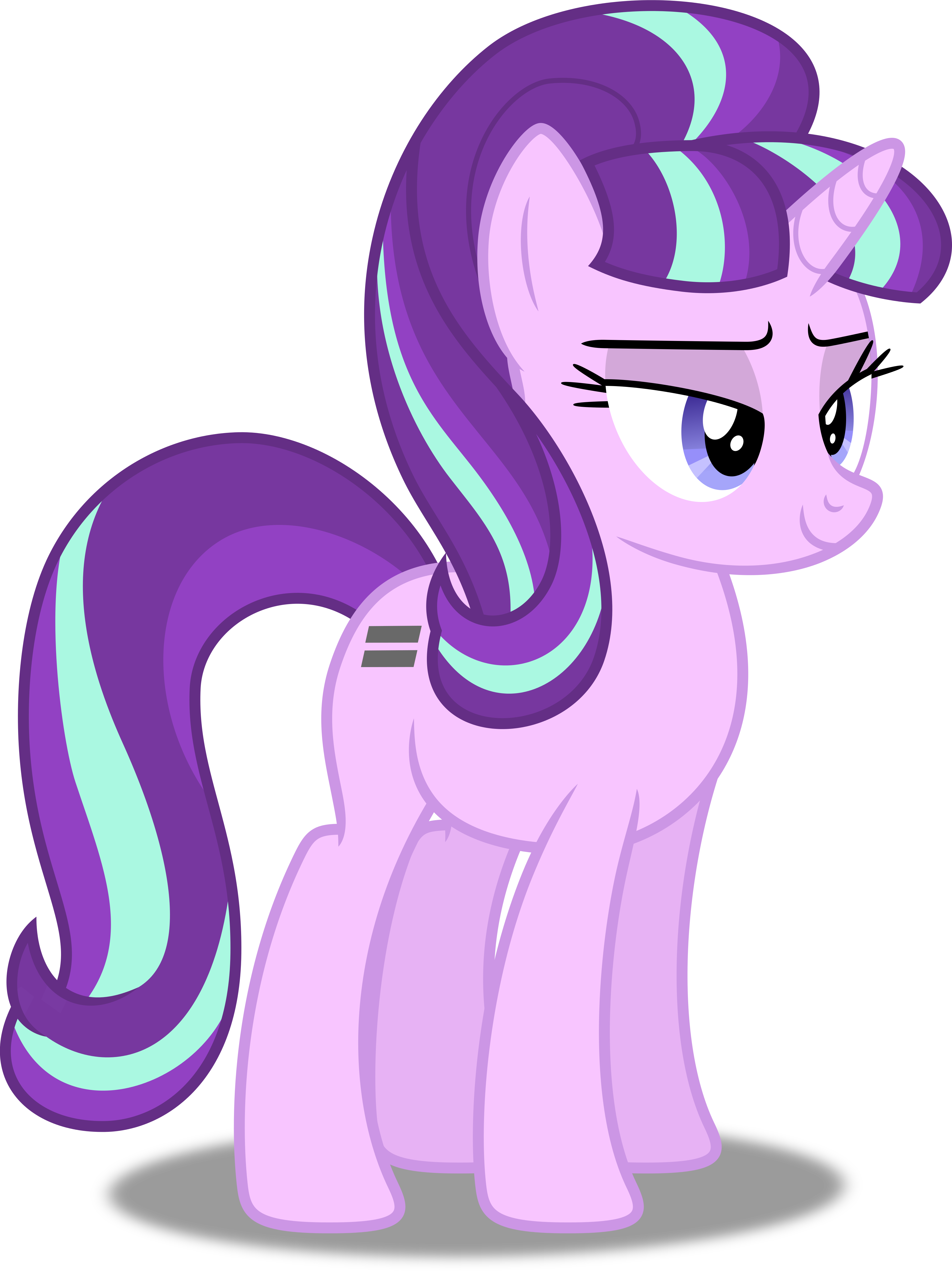 My Little Pony Starlight Glimmer Coloring Pages : Vector starlight glimmer by dashiesparkle on deviantart