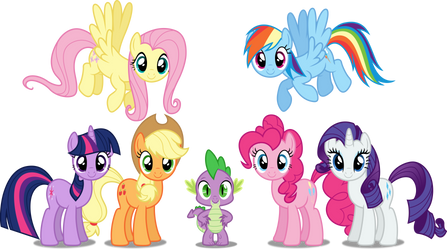 Vector #140 - The Mane 7