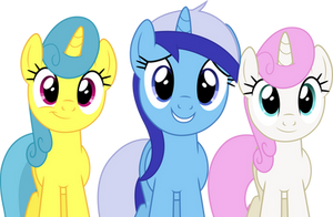 Vector #205 - We're Your Friends, Moon Dancer by DashieSparkle