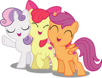 Vector #503 - Cutie Mark Crusader Group Hug! by DashieSparkle
