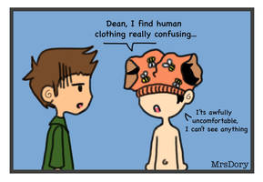 Human clothing is confusing by Denebrigel