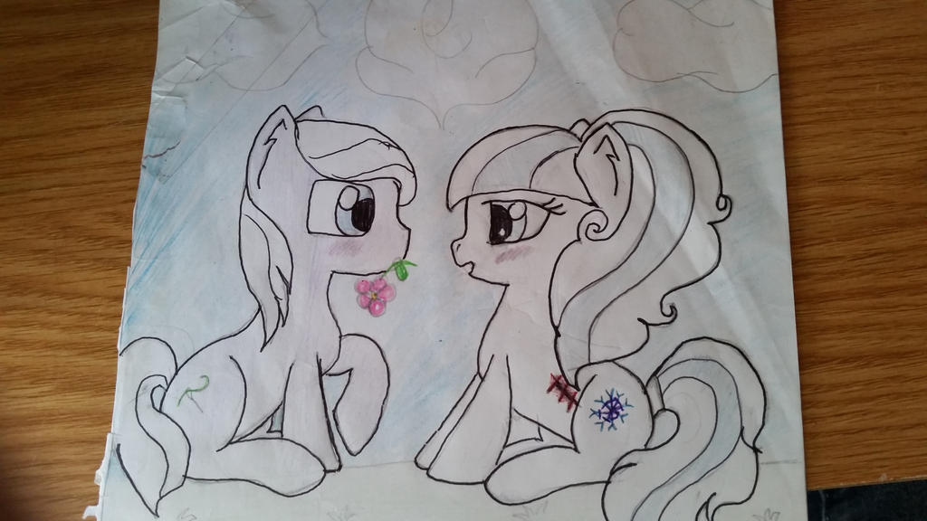 Orbit and Nightcore given flower by pegasister333