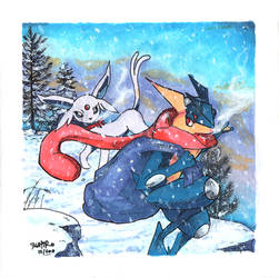 Pokemon Christmas Card by Fushiro