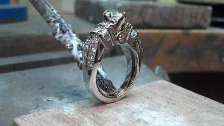 Ladie's Engagement ring by KestrelShatterwind