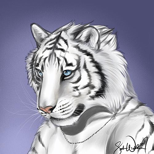 ghost tiger by KestrelShatterwind
