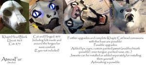Khajiit / Cat head blanks for sale