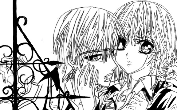 Vampire knight coloring book by hannah coy on deviantart for Vampire knight coloring pages
