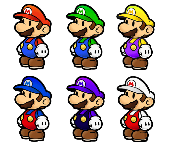 Paper mario smash bros colors by shadowgarion on deviantart for What color is mario