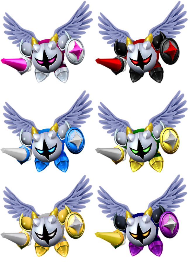 Galacta Knight Color Swaps by shadowgarion on DeviantArt