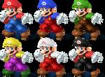 Mario SSB4 Recolors