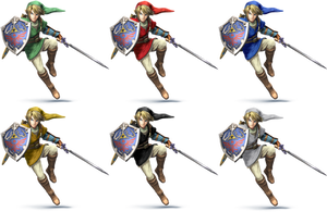 Link SSB4 Recolors by shadowgarion