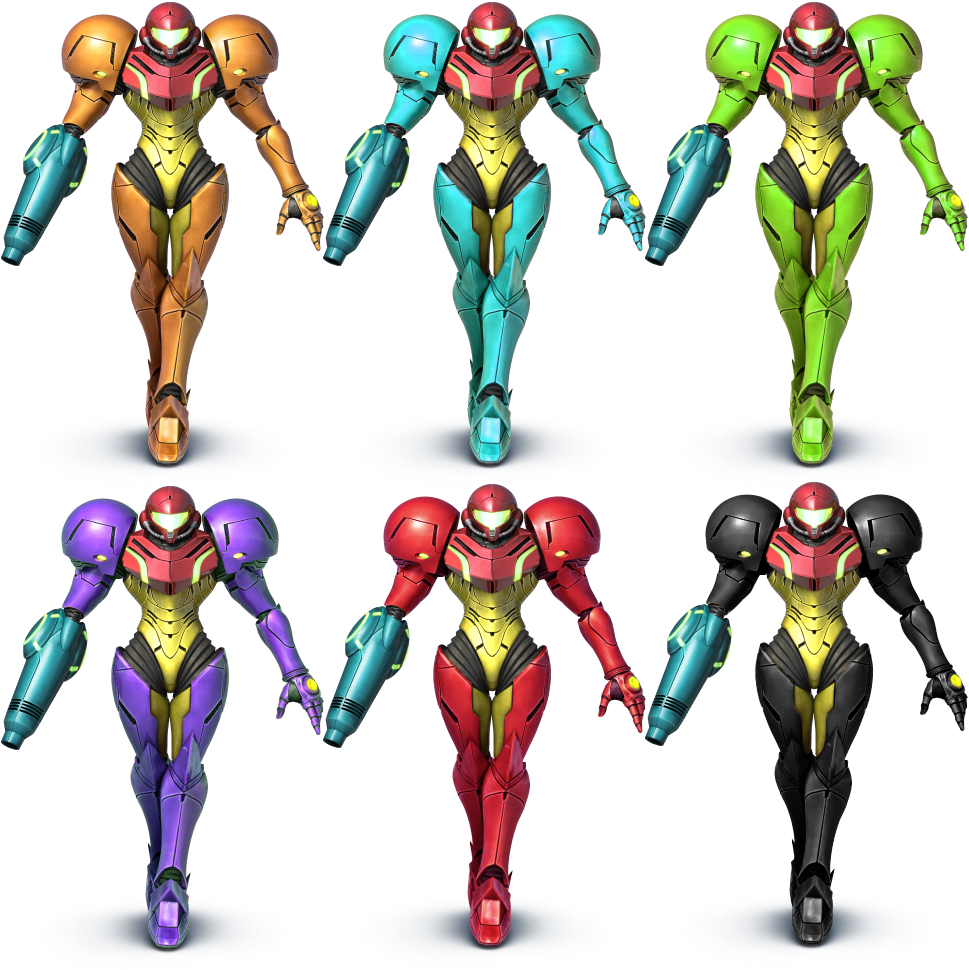 Samus SSB4 Recolors by shadowgarion on DeviantArt