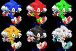 Sonic SSB4 Recolors