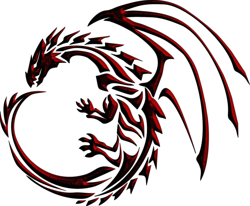 Red Tribal Dragon by shadowgarion on DeviantArt