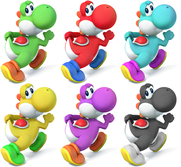 Yoshi SSB4 Recolors By Shadowgarion On DeviantArt